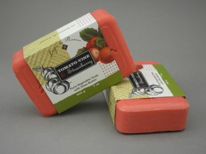Strawberry and Tomato Vine French triple milled bath soap 7.5 oz.