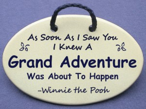 Winnie the Pooh: As soon as I saw you I knew a grand adventure was about to begin