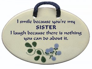 Sister smile wall plaque