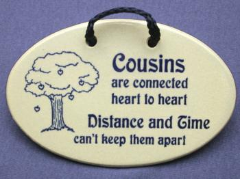 Cousins are connected heart to heart distance and time cant keep them apart