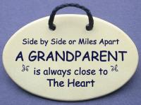 Side by side or Miles Apart A GRANDPARENT is always close to The Heart.