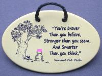 You are Braver than you believe, Stronger than you seem, and Smarter than you think- Winnie the Pooh girl with pink pussy hat