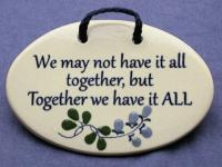 Ceramic wall plaques handmade in the USA for over 30 years Mountain Meadows Pottery If you live to be 100 I want to live to be 100 minus a day so I never have to live without you-Winnie the Pooh 2449P