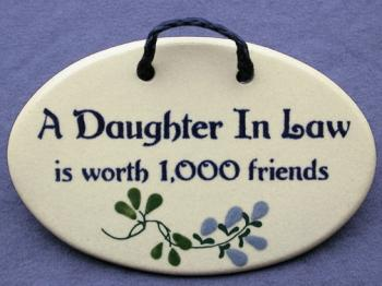 A Daughter In Law Is Worth 1000 Friends Decorative Wall
