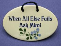 When all else fails ask Mimi