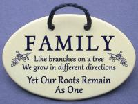FAMILY Like branches on a tree  We grow in different directions Yet our Roots Remain As One.