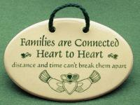 Families are connected heart to heart distance and time cant break them apart